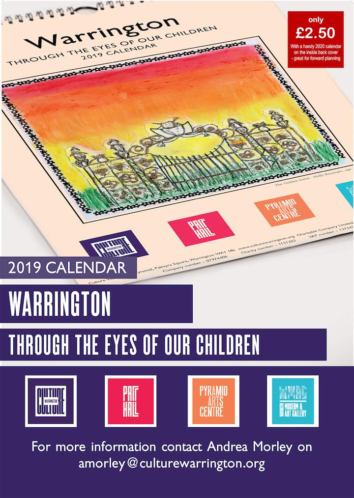 2019 culture warrington calendar culture warrington. Black Bedroom Furniture Sets. Home Design Ideas